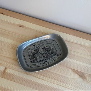 Vintage International Silver Give Us This Day Tray